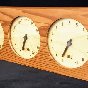 Reclaimed Redwood WaveClock