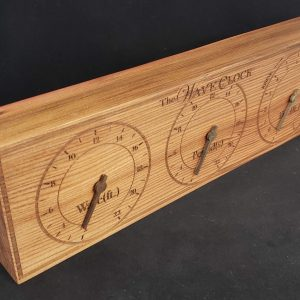 WaveClock Reclaimed 1932 Wine Cask Redwood